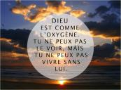 Citation Dieu oxygène