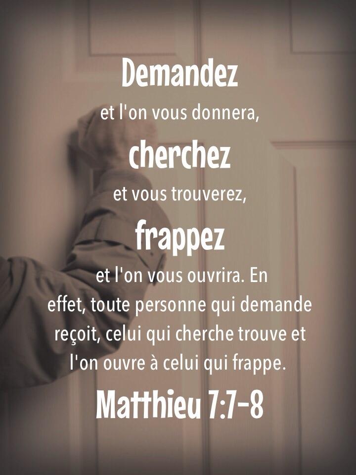 Matthieu 7:7-8