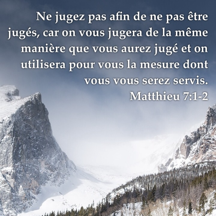 Matthieu 7:1-2