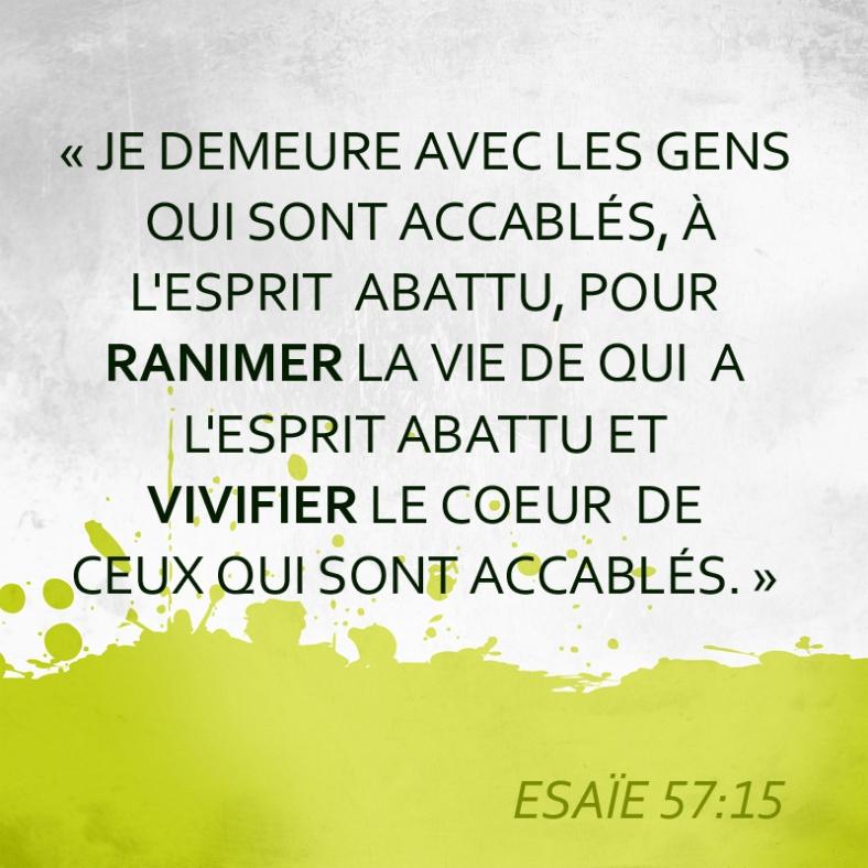 Dieu prend soin Esaïe 57:15