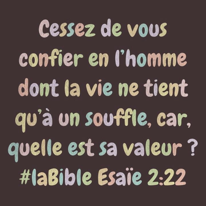 Esaïe 2_22