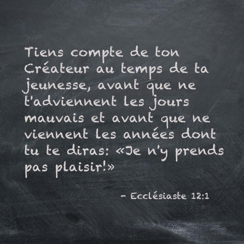 Ecclésiaste 12:1