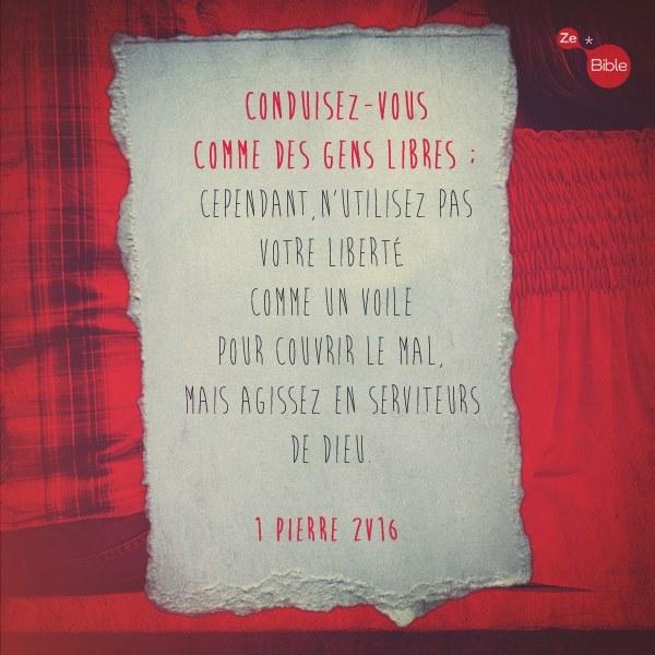 1 Pierre 2:16