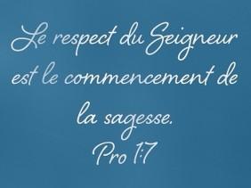 Proverbes 1:7