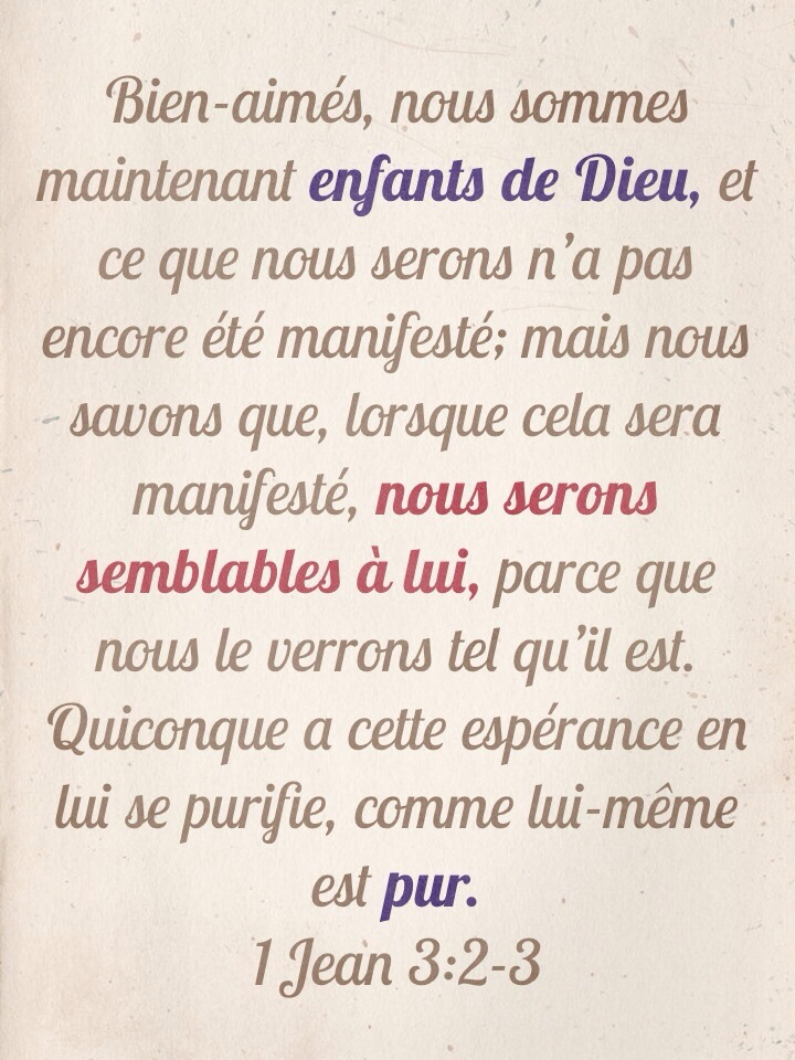 1 Jean 3:2-3