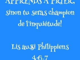 Citation Apprends à prier