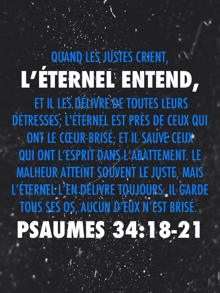 Psaume 34:18-21