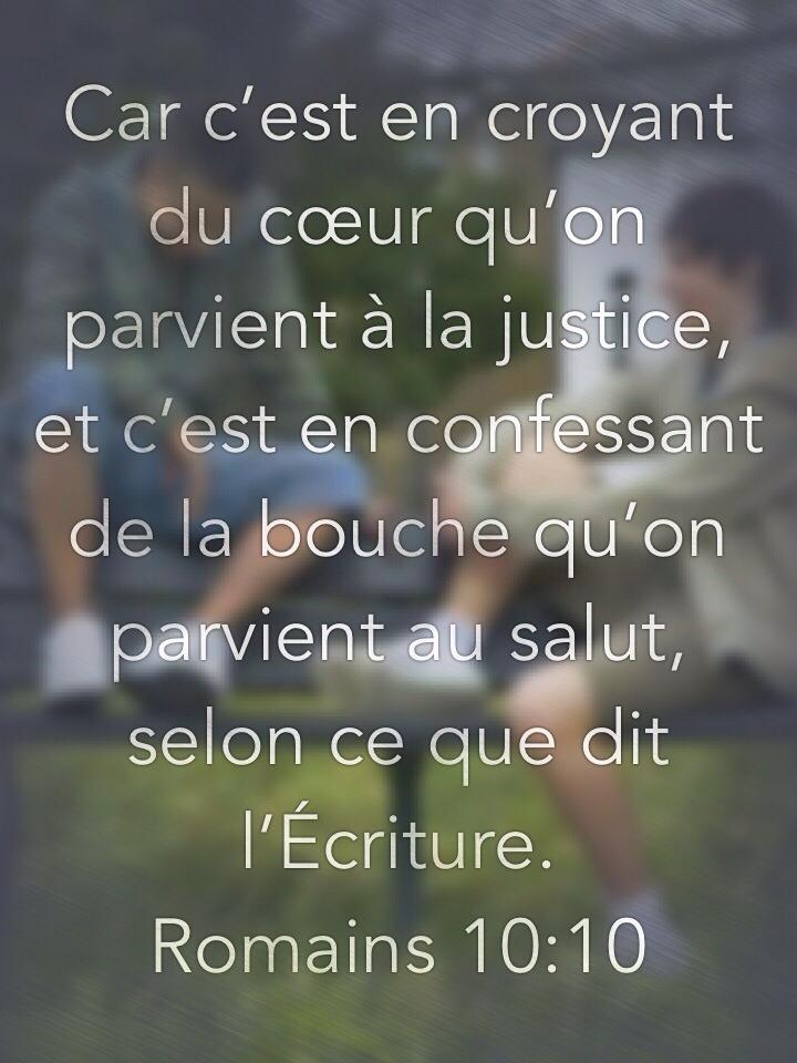 Romains 10:10