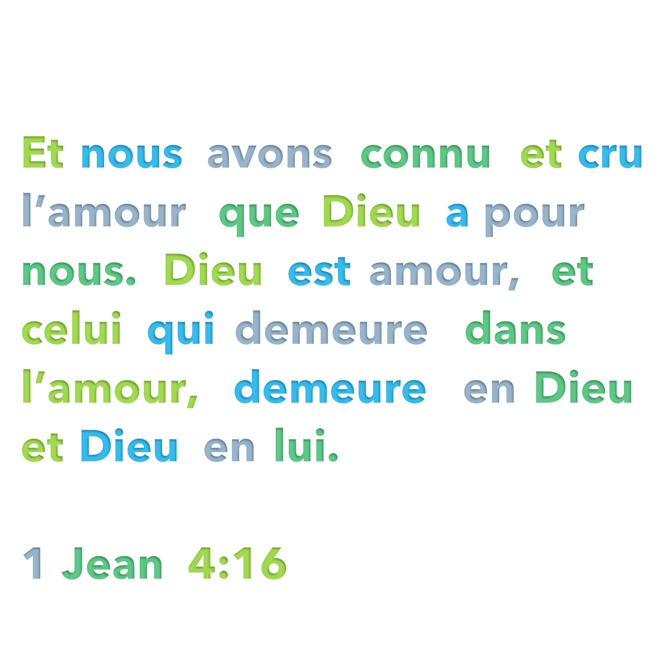 Assez Dieu est amour | 1001 versets CZ06