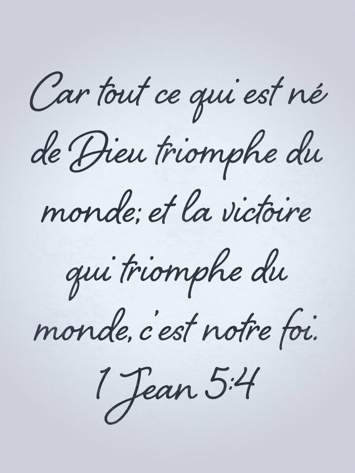 Top La foi triomphe du monde | 1001 versets XN72