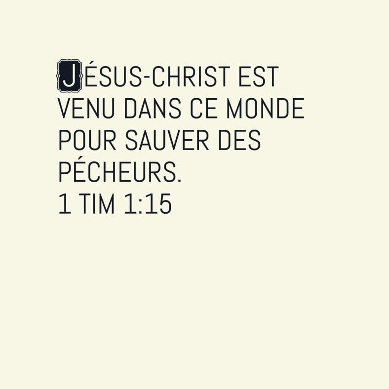 1Timothée 1:15
