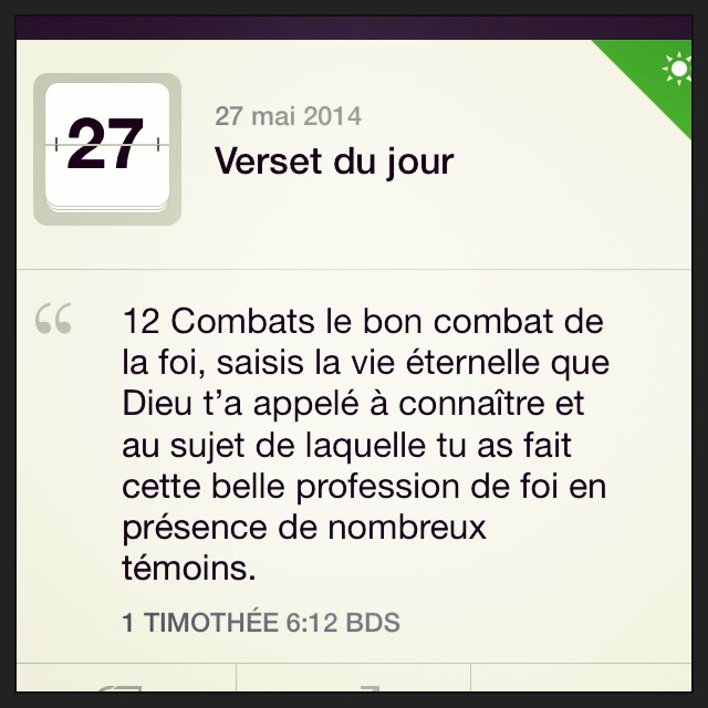 1Timothee 6:12