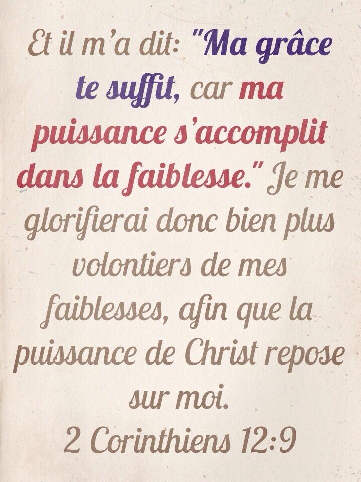 2Corinthiens 12:9