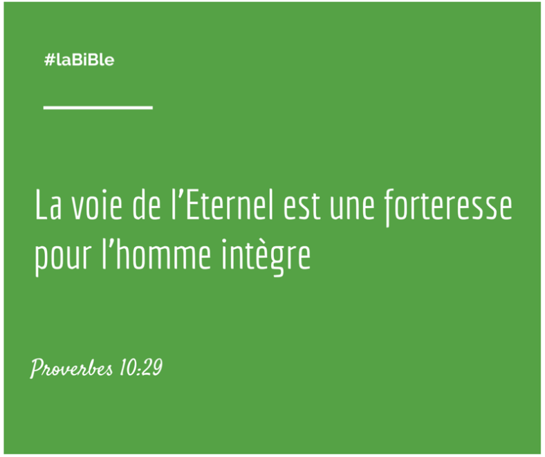 Proverbes 10:29