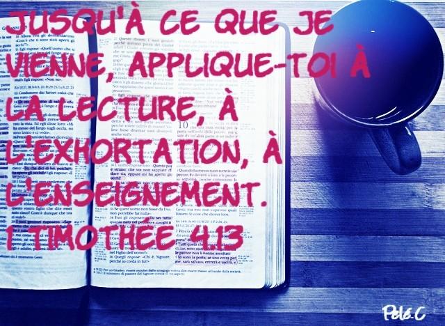 1 Timothée 4:13