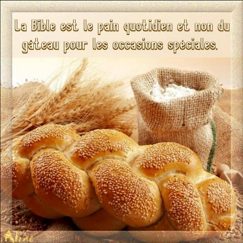 Citation La Bible est le pain quotidien