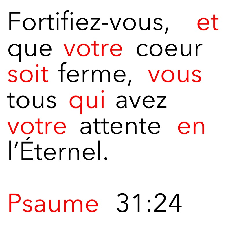 Psaume 31:24