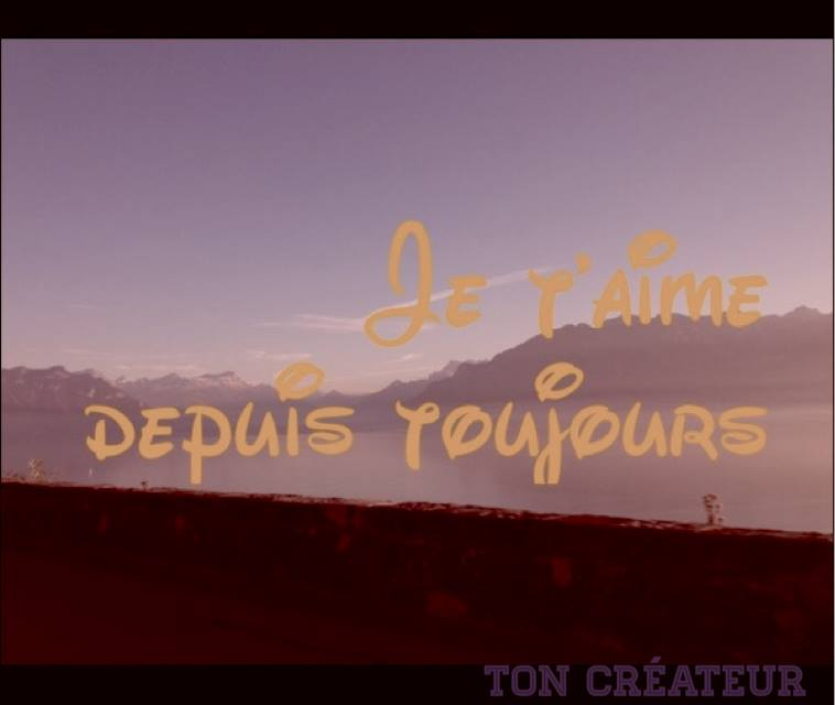 Citation Je t'aime