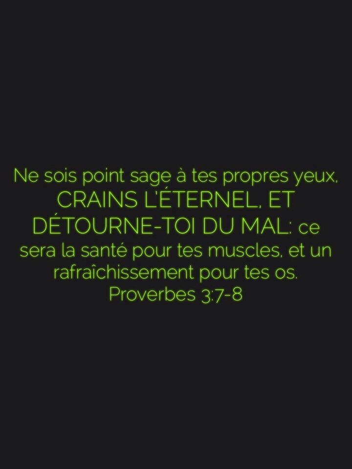 Proverbes 3:7-8