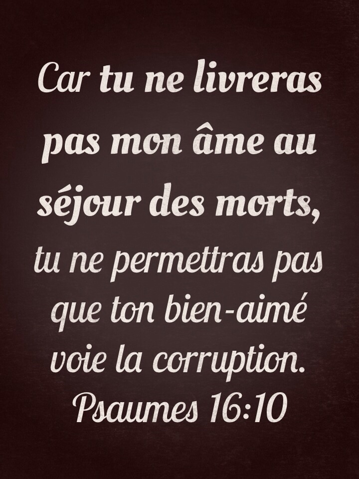 Psaume 16:10