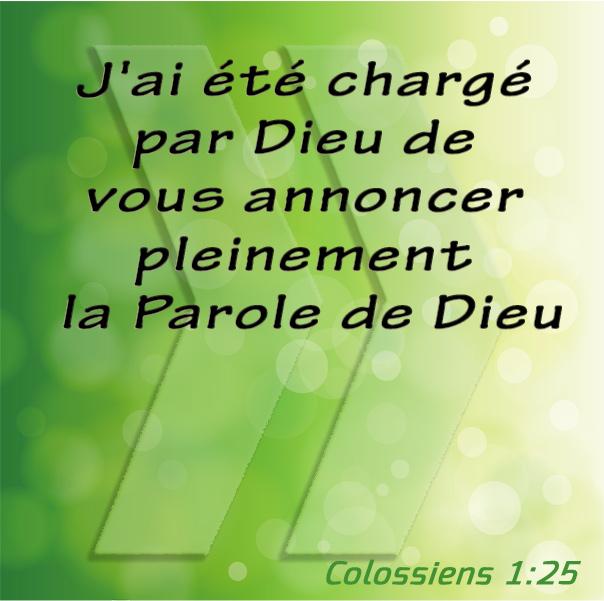 Colossiens 1:25