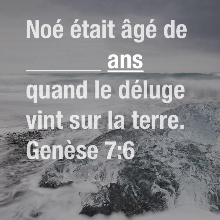 Genèse 7:6
