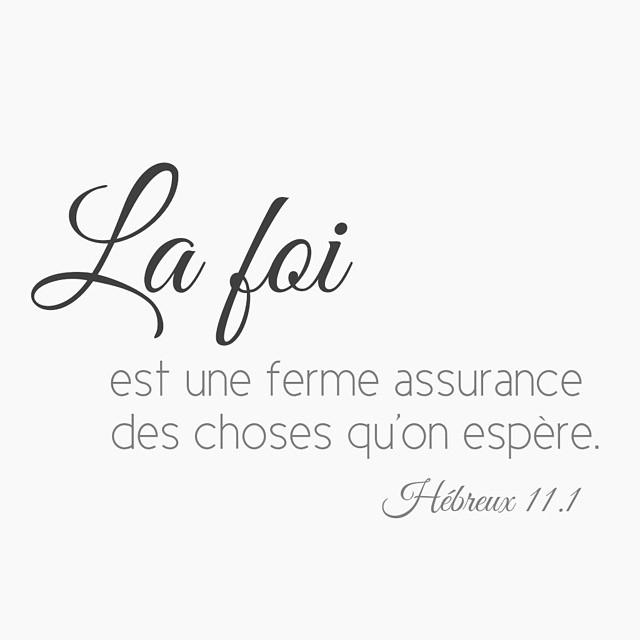 Hébreux 11: 1