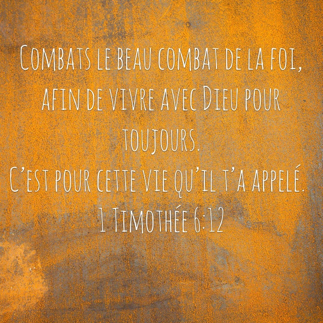 1 Timothée 6:12