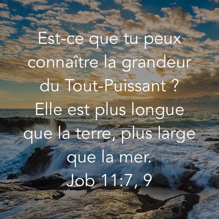 Job 11:7 et 9