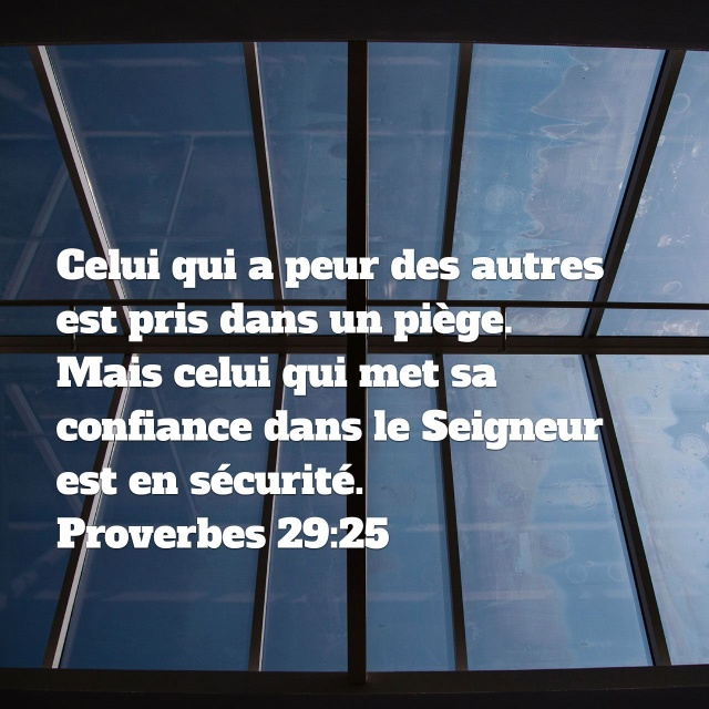 Proverbes 29:25