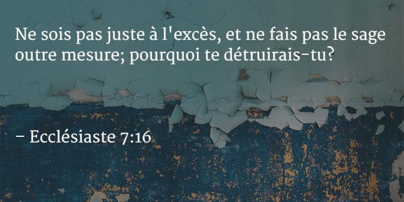 Ecclésiaste 7:16