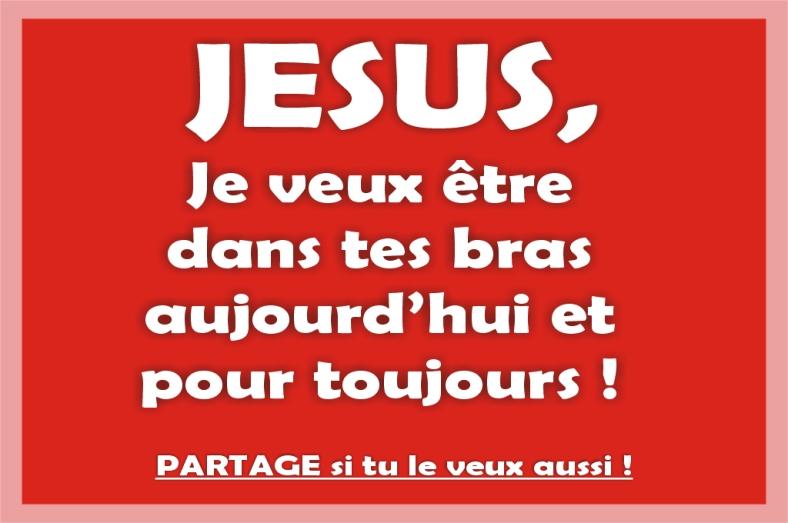 Citation Jésus dans tes bras