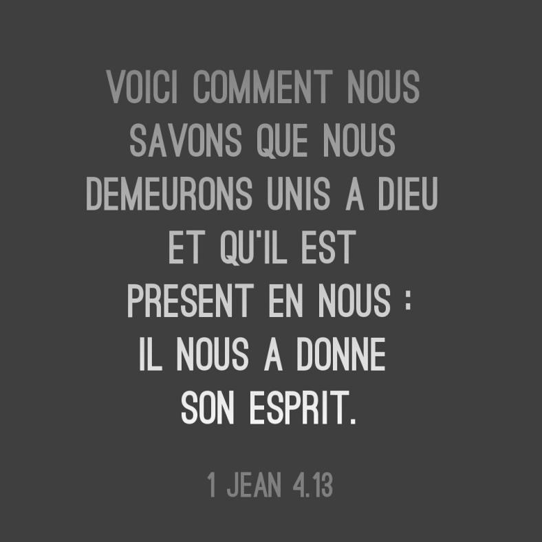 1 Jean 4:13