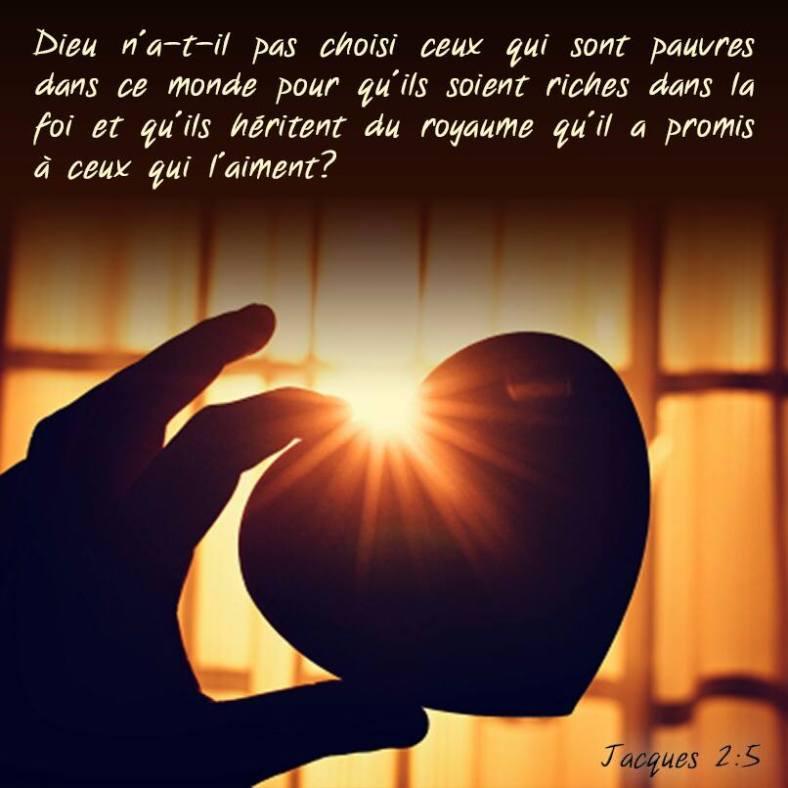 Jacques 2:5