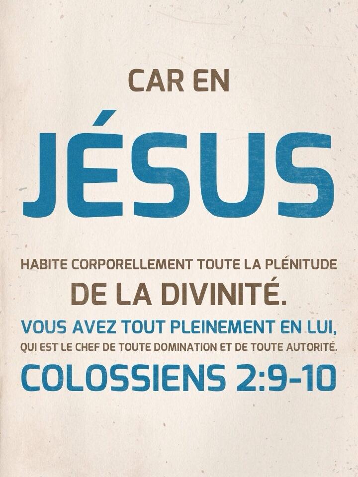 Colossiens 2:9-10