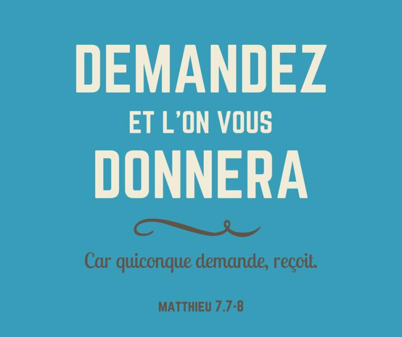Matthieu 7:7
