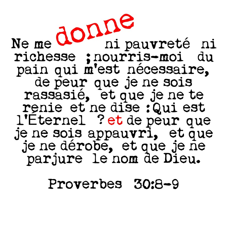Proverbes 30:8-9