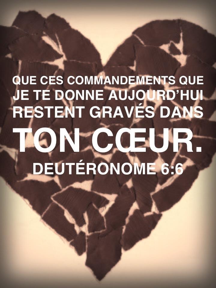 Deutéronome 6:6