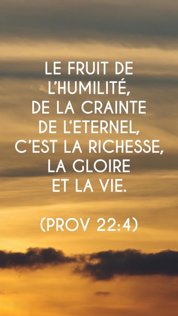 Proverbes 22:4