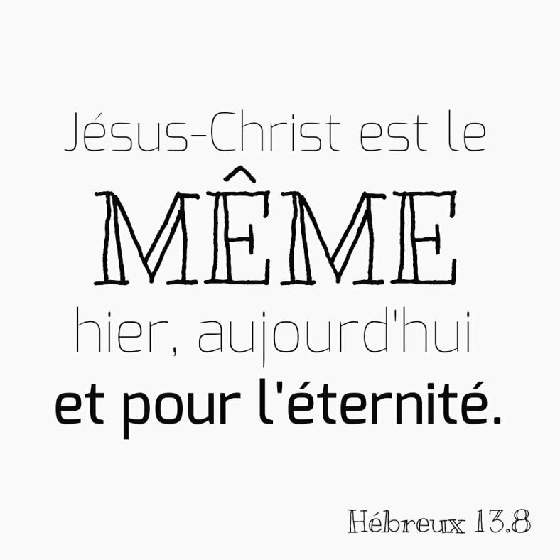 Hébreux 13:8