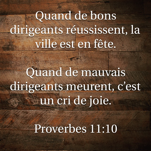 Proverbes 11:10