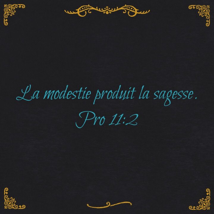 Proverbes 11:2