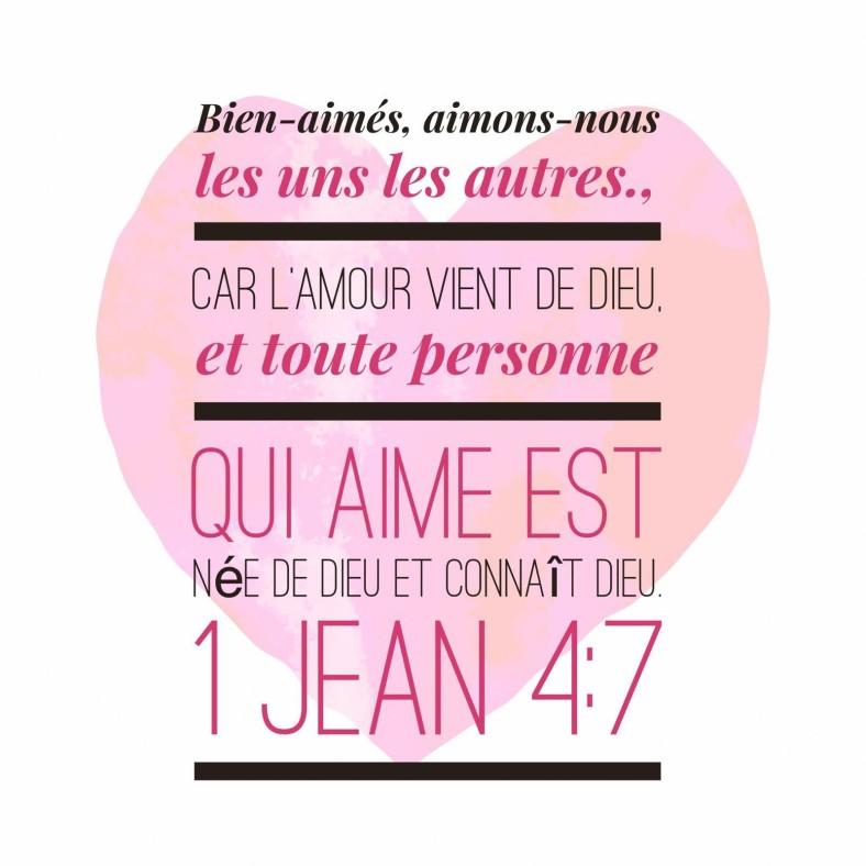 1 Jean 4:7