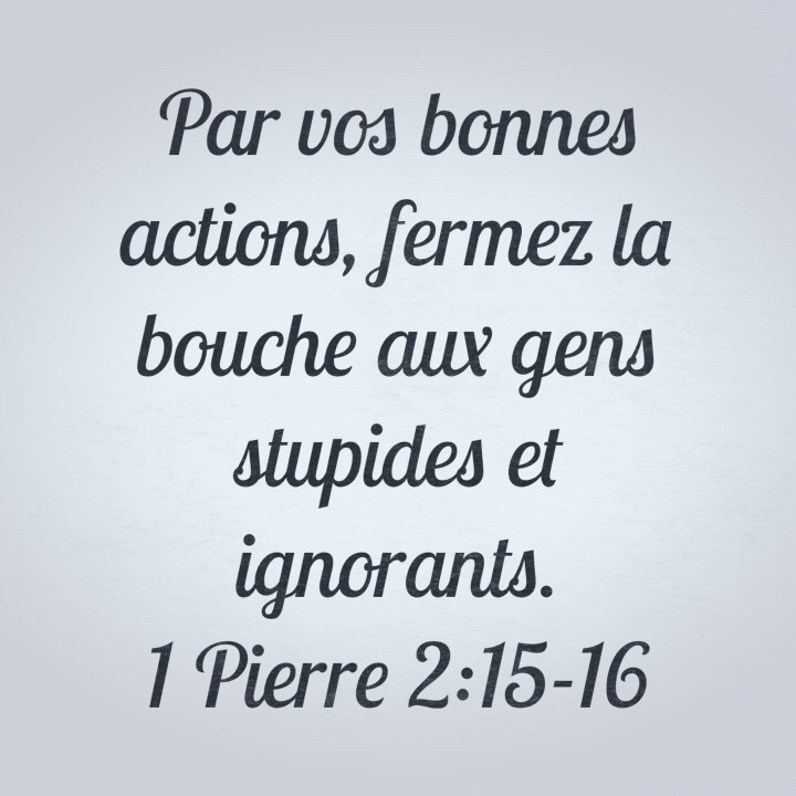 1Pierre 2:15-16