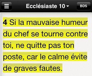 Ecclésiaste 10:4