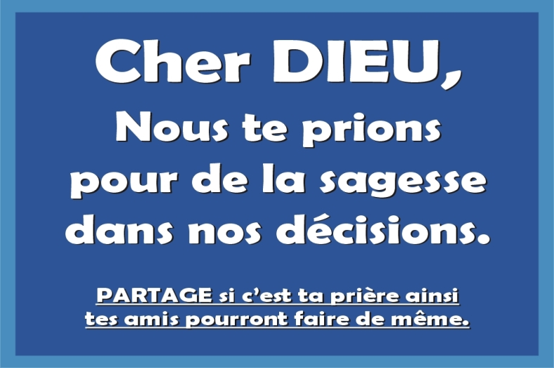 Citation Cher Dieu. décisions