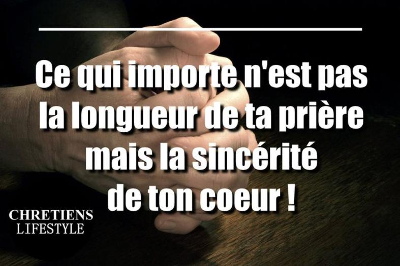 Citation Longueur de prière ?