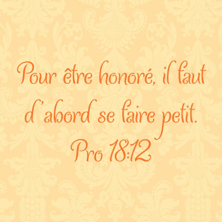 Proverbes 18:12
