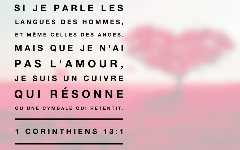 1 Corinthiens 13:1