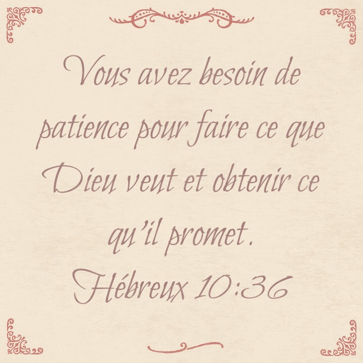 Hébreux 10:36